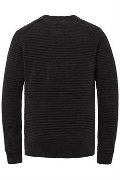 cast iron heren trui r-neck relaxed fit chenille cotton ckw216324