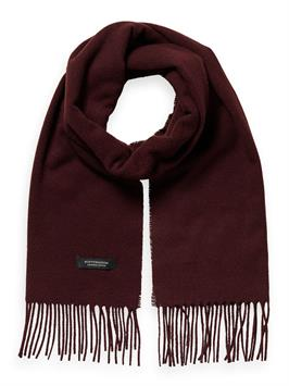 classic fringed woven wool scarf