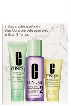 clinique 3-step creat great skin set huidtype 2 dry combination