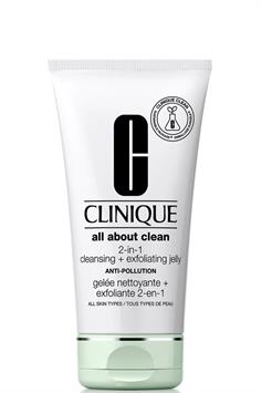 clinique all about clean™ 2-in-1 cleansing + exfoliating jelly alle huidtypes 150 ml