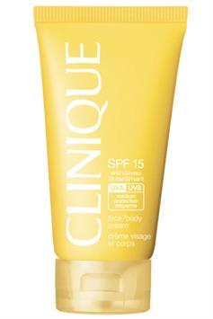 clinique spf 15 face/body cream with solarsmart medium protection moyenne 150 ml