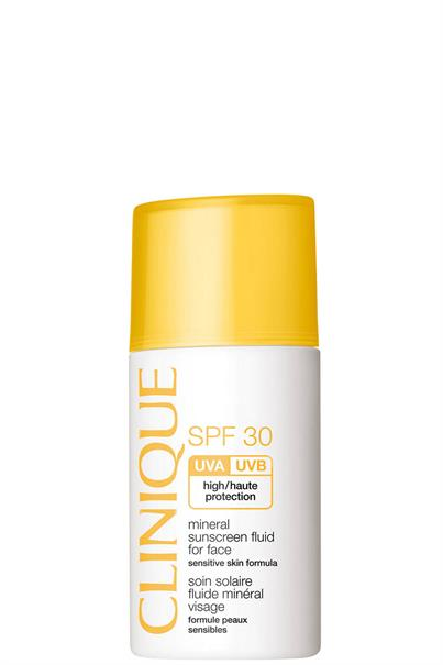 clinique spf 30 mineral suncreen fluid for face sensitive skin formula high protection 30 ml