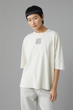 closed dames t-shirt organic cotton relaxed t-shirt with print c95304-44e-pr