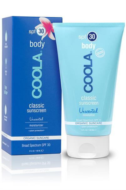 coola classic sunscreen - body - organic suncare lotion spf 30 - unscented - 148 ml