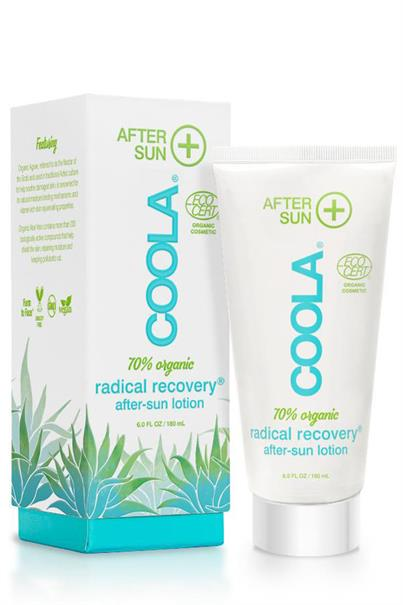 coola radical recovery eco-cert organic after-sun lotion - 180 ml