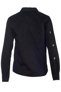 daphnea paris dames blouse fly black-gold