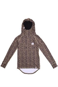 eivy dames thermo trui icecold hood top leopard