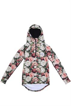 eivy dames thermo trui icecold zip hood top autumn bloom