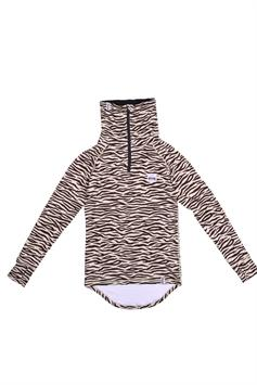 eivy dames thermo trui icecold zip top zebra