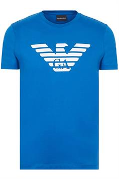 emporio armani heren t-shirt pima cotton t-shirt with oversized eagle 8n1t99 1jnqz