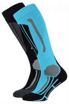 falcon dames technical skisocks victoria 2-pack blue curacao