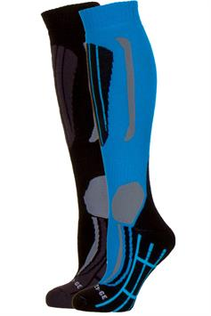 falcon dames technical skisocks victoria 2-pack olympic blue