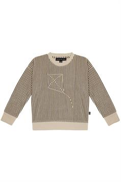 house of jamie kids sweater charcoal sheer stripes crewneck 0538222