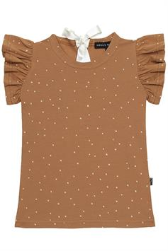house of jamie meisjes t-shirt ruffled tee burnt ginger dots 04138532