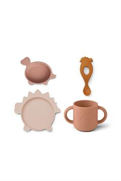 liewood silicone set vivi silicone tableware 4 pack