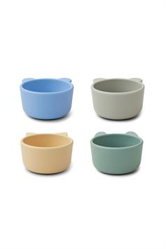liewood siliconen bakjes malene silicone bowl 4 pack lw14101