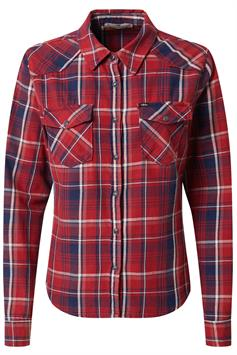 ltb dames blouse lucinda tango red check wash 60474-14835