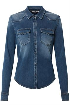 ltb dames denim blouse lucinda orlena wash 60474-14299