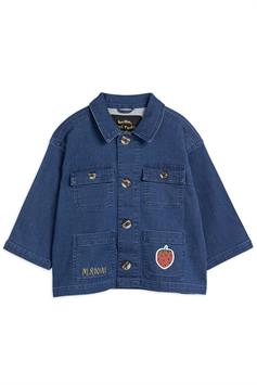 mini rodini kids jack denim strawberry safari jacket 2121010060