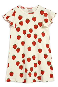 mini rodini kids jurk strawberry aop wing dress 2125012911