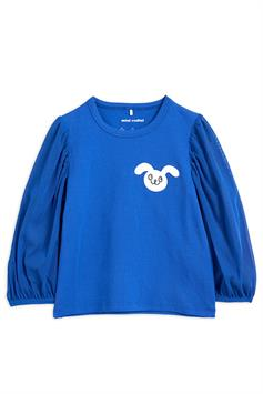mini rodini kids shirt lange mouw tulle balloon sleeve top 212214060