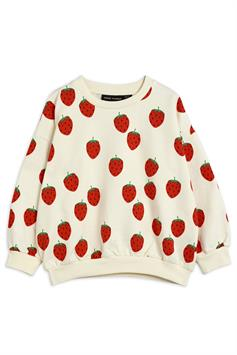 mini rodini kids sweater strawberry aop sweatshirt 2122017111