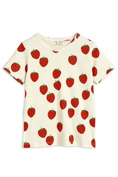 mini rodini kids t-shirt strawberry aop ss tee 2122012611