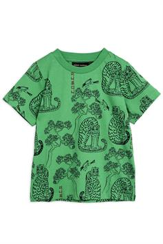 mini rodini kids t-shirt tigers aop ss tee 2122012975