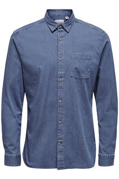 only & sons heren overhemd onstroy life ls stretch shirt 22018773