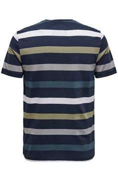 only & sons heren t-shirt nicko life slim tee nf 9063 22019063