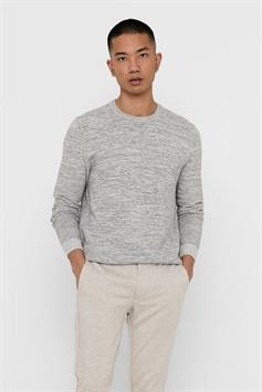 only & sons heren trui onsnathan 12 multi struc crew neck knit 22018197