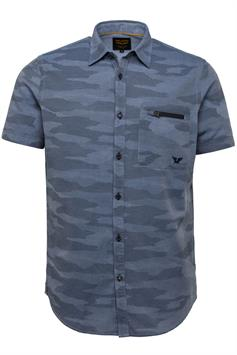 pme legend heren overhemd korte mouw short sleeve shirt chambray with a psis212267