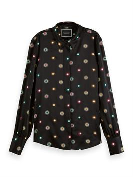 scotch & soda dames blouse lange mouw 158919