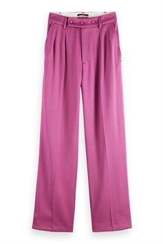scotch & soda dames broek high rise relaxed fit pants in visc 161547