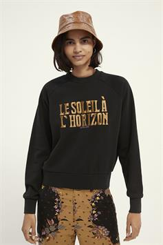 scotch & soda dames sweater relaxed fit crew neck sweat in organic cotton blend 161678