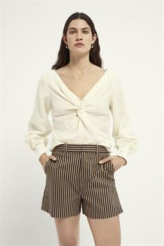 scotch & soda dames top knotted top with v neck 161476