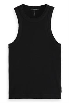 scotch & soda dames top racer back tank top with small scal 161734