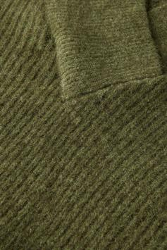 scotch & soda dames trui ribbed v-neck relaxed-fit fuzzy knit 163834