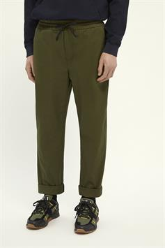 scotch & soda heren broek fave- lightweight chino in jogger styling in organic cotton 162288