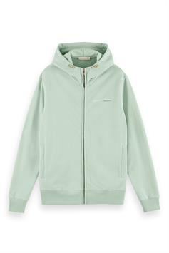 scotch & soda heren hoodie classic organic cotton felpa zip-th 160813