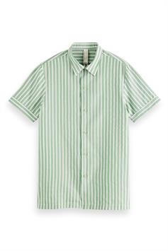 scotch & soda heren overhemd relaxed fit- short sleeve sailor shirt 160799