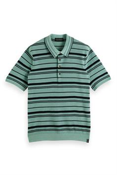 scotch & soda heren polo knitted polo 160667