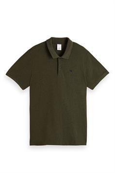 scotch & soda heren polo nos organic cotton polo 162863