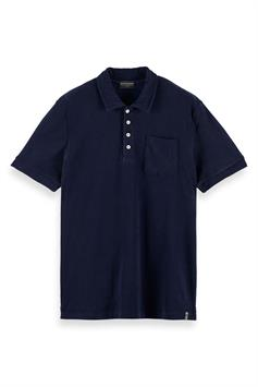 scotch & soda heren polo organic cotton terry-toweling polo 160896