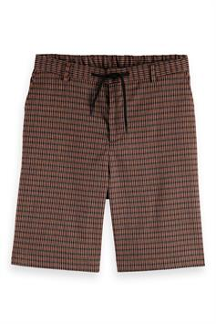 scotch & soda heren short seasonal fit- chic yarn-dyed bermud 160725