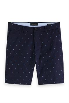 scotch & soda heren short stuart- twill chino short with mini 160728