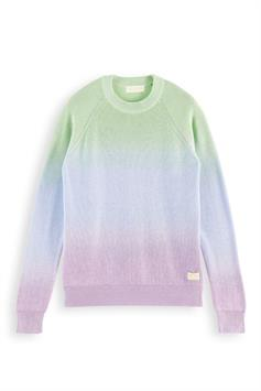 scotch & soda heren sweater dip-dyed crewneck pull in lightweig 160917