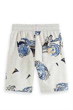 scotch & soda jongens short all-over printed sweat shorts in or 161035