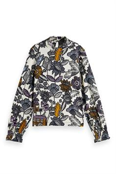 scotch & soda meisjes shirt lange mouw fitted long sleeve jersey top with 161849