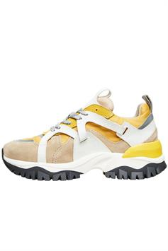 selected dames sneakers slfamy trail trainer b tigers eye 16072902